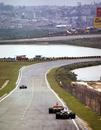 Niki Lauda leads Carlos Pace