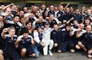 Nico Hulkenberg and his Williams team celebrate pole
