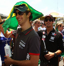 Bruno Senna and Lucas di Grassi enjoying their home grand prix