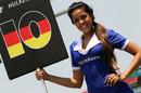 Nico Hulkenberg's grid girl