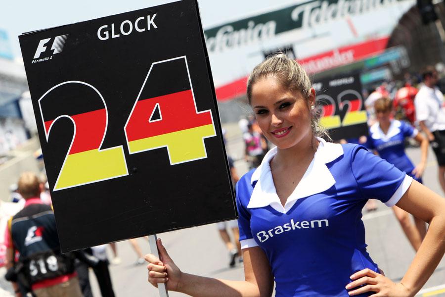 Timo Glock's grid girl
