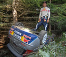Kimi Raikkonen after crashing out of Rally Bulgaria
