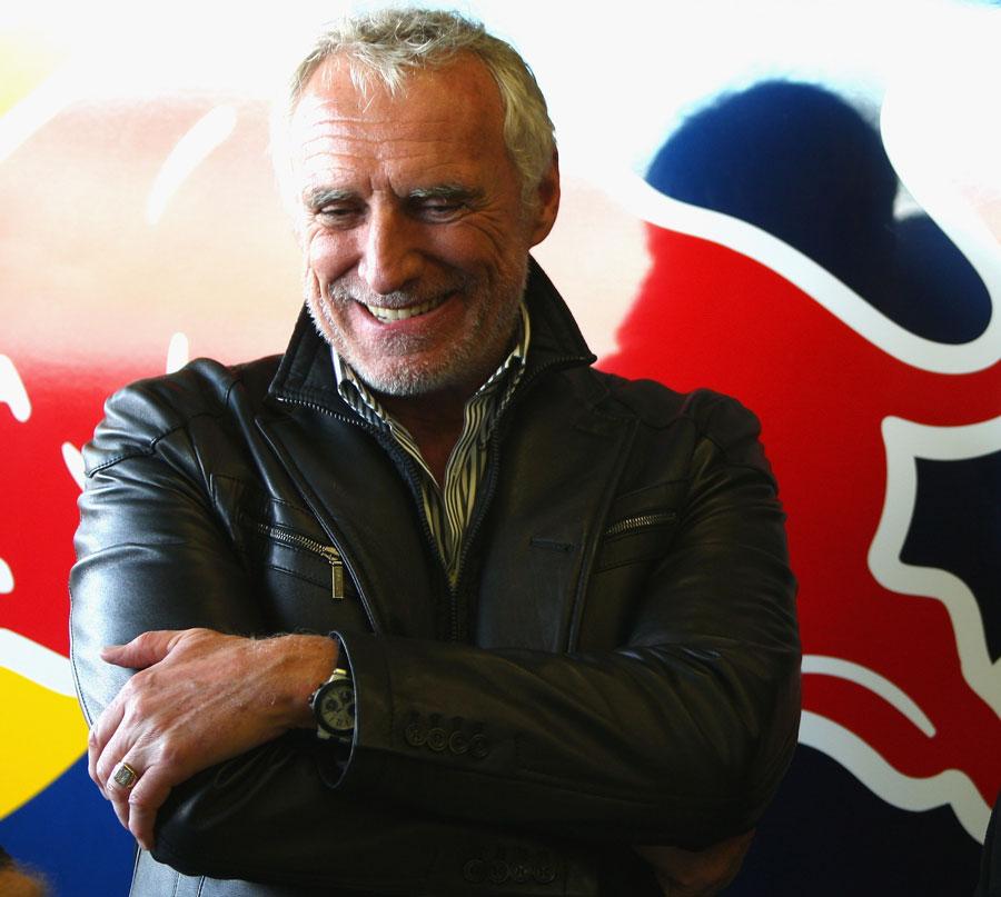 Dietrich Mateschitz in the Red Bull garage