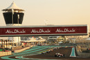 Action from the Abu Dhabi Grand Prix