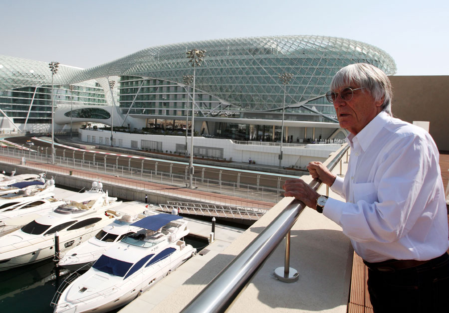 Bernie Ecclestone surveys the new circuit