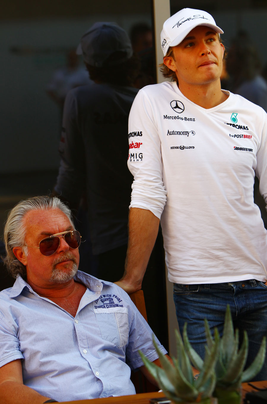 Keke and Nico Rosberg in the paddock