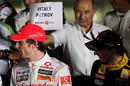 Peter Sauber has a joke at Jenson Button's expense