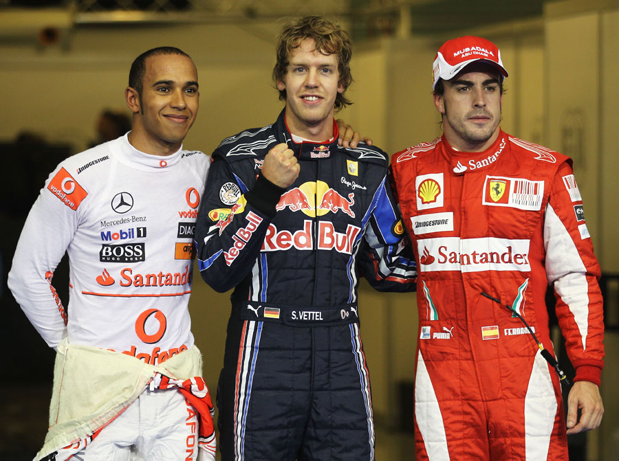 The top three drivers after qualifying
