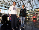 Mark Webber and Sebastian Vettel at a press conference for Servus TV