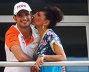 Tonio Liuzzi with his girlfriend in the paddock