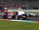 Daniel Ricciardo passes Esteban Gutierrez on track