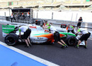Antonio Felix da Costa attempts to match Paul di Resta's times in the Force India