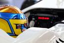 Esteban Gutierrez keeps an eye on his steering wheel read out