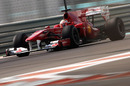 Jules Bianchi at speed in the Ferrari