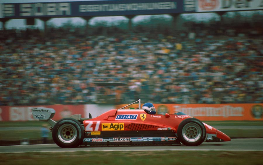 Patrick Tambay on his way to winning the German Grand Prix
