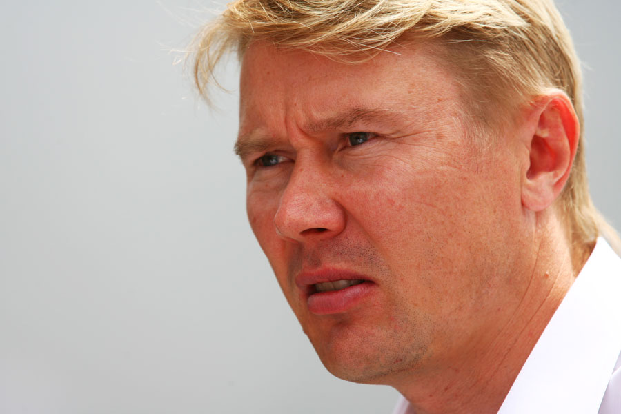 Mika Hakkinen in the paddock