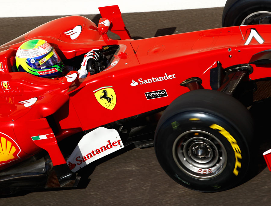 Felipe Massa puts the new Pirellis through their paces
