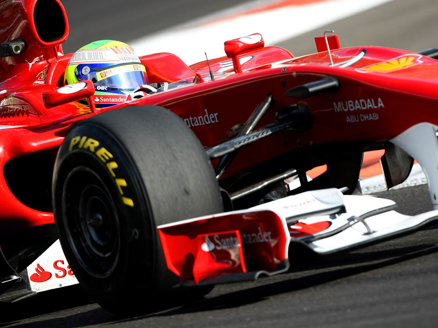 Felipe Massa on his way to setting the fastest time of the day