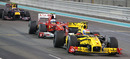 Vitaly Petrov holds off Fernando Alonso for sixth, Abu Dhabi Grand Prix, Yas Marina, November 14, 2010