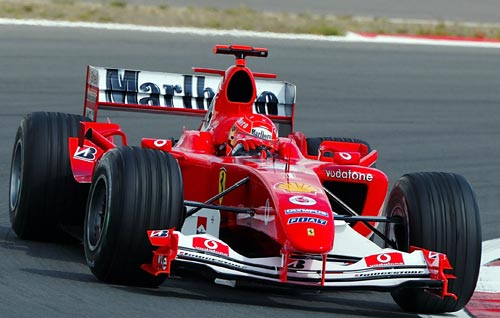 Michael Schumacher in practice at the Nurburgring
