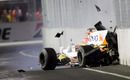 Nelson Piquet Jnr crashes on purpose in Singapore