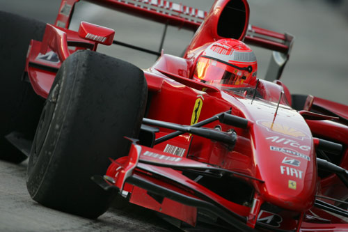 Michael Schumacher testing slicks