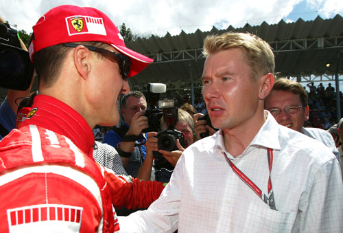 Michael Schumacher and Mika Hakkinen