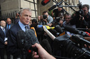 Max Mosley speaks to journalists