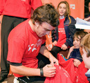 Fernando Alonso signs autographs ahead of a charity race in his home town
