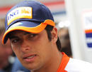 Nelson Piquet Jnr answers questions from journalists