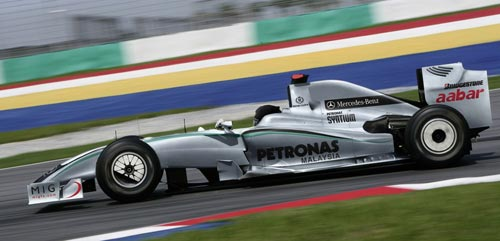 An artist's impression of what the Mercedes GP car will look like in 2010