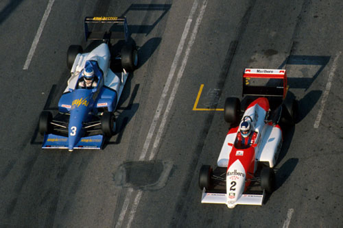 Michael Schumacher and Mika Hakkinen faced each other in F3