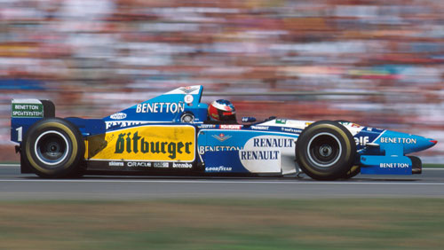 Michael Schumacher took a second world title in 1995
