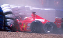 Michael Schumacher broke his leg when he crashed at Silverstone
