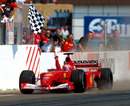 Michael Schumacher took his second title with Ferrari in 2001