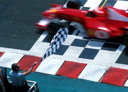 Michael Schumacher took his fifth title in 2002