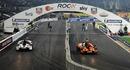 Sebastian Vettel races against Michael Schumacher