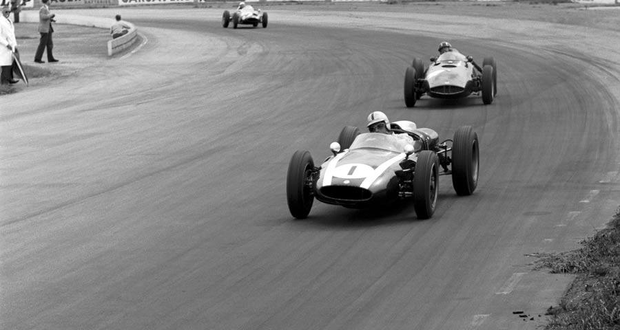 Jack Brabham leads an inspired Graham Hill