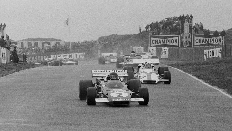Jacky Ickx leads Pedro Rodriguez