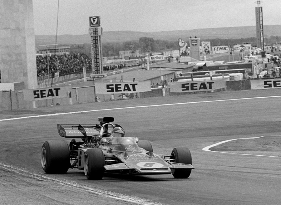 Emerson Fittipaldi on his way to victory in Spain
