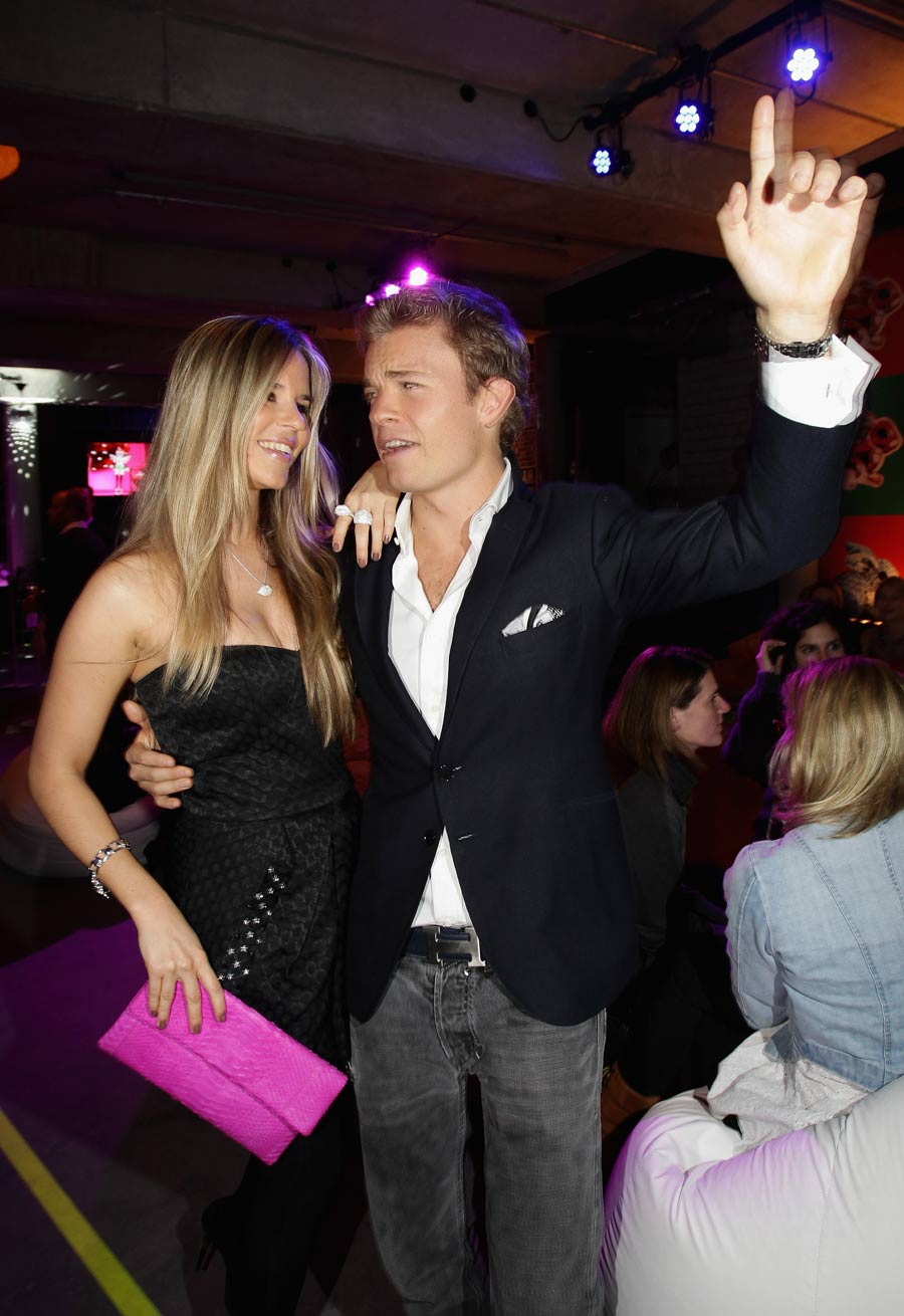 Nico Rosberg dances with partner Vivian Sibold in Berlin's Soho House