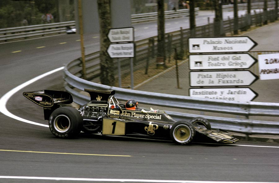 Emerson Fittipaldi nursed his Lotus home with a deflating rear tyre