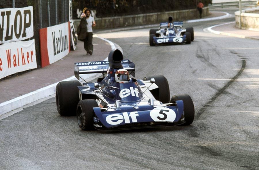 Jackie Stewart leads team-mate Francois Cevert