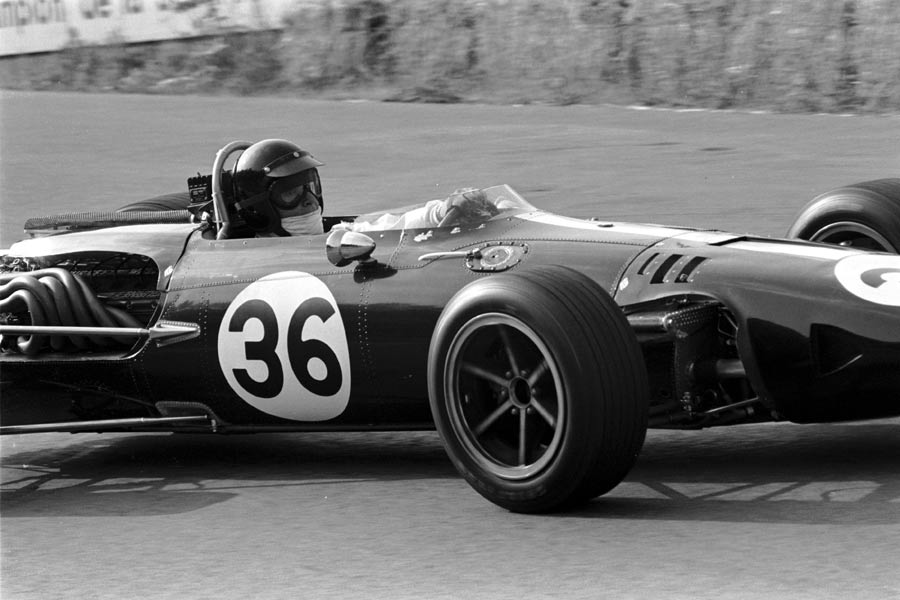 Dan Gurney on his way to victory in his own Eagle car in Belgium