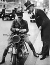 Sir Malcolm Campbell trotted out this motorbike for war service