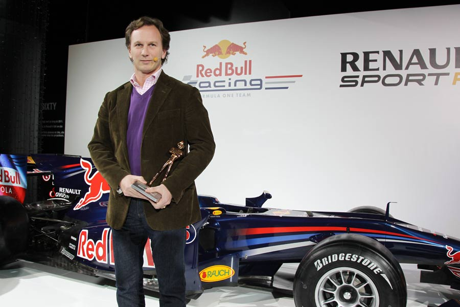 Red Bull Racing team principal Christian Horner during a ceremony in Paris to congratulate the team