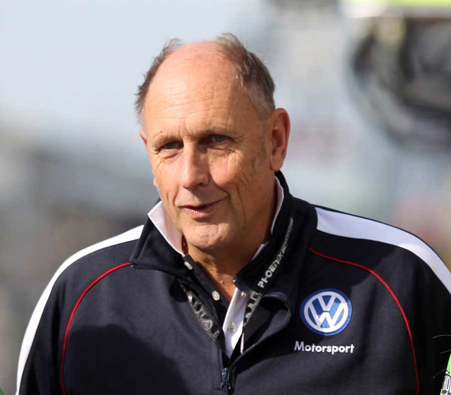 Hans Joachim Stuck in his role as a Volkswagen motorsport director