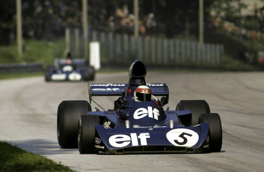 Jackie Stewart picked his way through the field to finish fourth