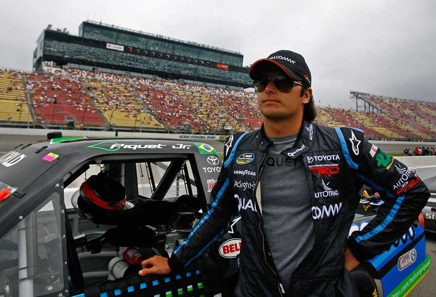 Nelson Piquet Jnr stands on the grid prior to the NASCAR Camping World Truck Series VFW 200, Michigan International Speedway, Brooklyn, Michigan, June 12, 2010