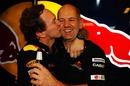 Red Bull boss Christian Horner celebrates with Adrian Newey